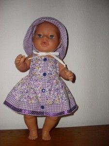 Cute dress & sun hat for baby born