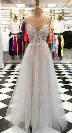Gorgeous evening dress,sexy ball gowns,custom made prom,Spaghetti Straps party gowns,White tulle formal dress Long Prom Dress · Dressmelody · Online Store Powered by Storenvy Straps Prom Dresses, Wedding Dresses With Straps, Homecoming Dresses, Dress Wedding, Dress Straps, Quinceanera Dresses, Trendy Dresses, Sexy Dresses, Nice Dresses