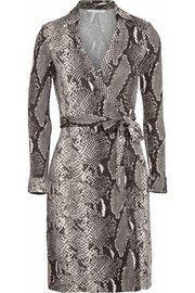 Diane von Furstenberg New Jeanne python-print silk-jersey wrap dress. Love!!!