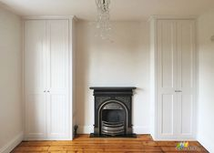 Alcove Fitted Wardrobes besides the Chimney. West Hampstead,London