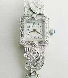 This is the most beautiful watch I have ever seen! Antique Longiness Platinum and Diamond Ladies by SITFineJewelry, $4500.00