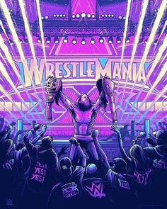 Screenprint celebrating Daniel Bryan and his win at Wrestlemania XXX. Created for & WWE. Available from Gallery 1988 now. Wrestling Stars, Wrestling Wwe, Dan Mumford, Eddie Guerrero, The Shield Wwe, Wwe Tna, Wrestling Superstars, Wwe Wallpapers, Daniel Bryan