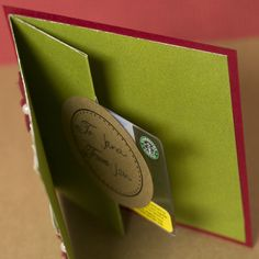 Hero Arts shares instructions for making a pop up gift card holder