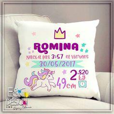 #unicorn #cojinpersonalizado #cojinnacimiento #cojinbb