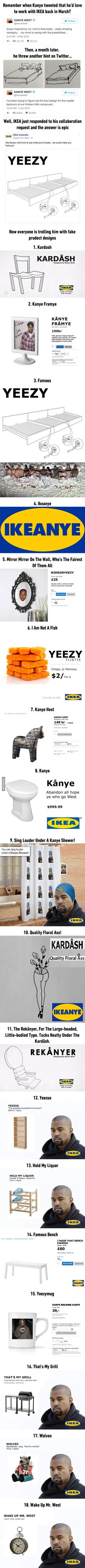 Kanye West wants to work with IKEA, got trolled instead
