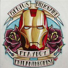 "Marvel Iron Man - ""Alivia Marie Makes Geek Art Intimidating with Her Avenger Artwork"" Marvel Tattoos, Avengers Tattoo, Spiderman Tattoo, Ironman Tattoo, 4 Tattoo, Sick Tattoo, Samoan Tattoo, Polynesian Tattoos, Tattoo Flash"