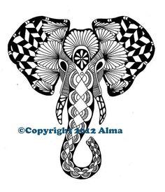 Zentangle: Elephant
