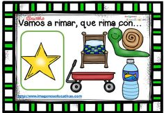 Rimas infantiles, que rima con.. (4) Spanish Activities, Teaching Spanish, Familia Y Cole, Dual Language, Student Teaching, Educational Games, Teaching Materials, Speech Therapy, Special Education