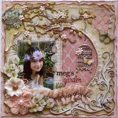 Meg's Garden *Dusty Attic Design Team** - Scrapbook.com