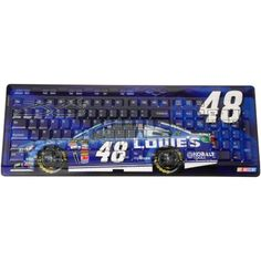 Jimmie Johnson Wireless Keyboard - Royal Blue