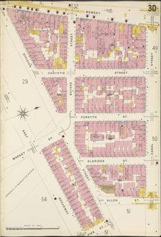 23-61 Bowery, 1880s. All razed for Manhattan Bridge Plaza.