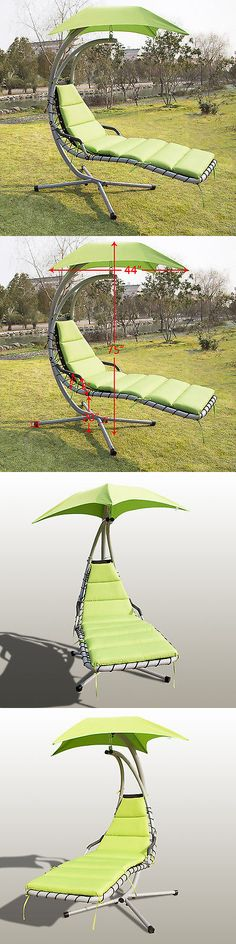 Hammocks 20719: Hanging Chaise Lounge Dream Chair Arc Stand Air Porch Swing  Hammock Canopy Green