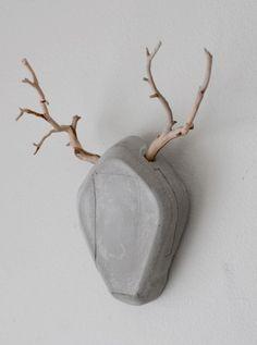 cement deer head
