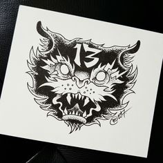 Angry cat done by @rustemhorzum at Tattoo Studio 115