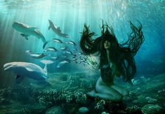 Sedna- Inuit Godess of the Sea by micha8583 on DeviantArt The Last Story, Goddess Of The Sea, I Need Vitamin Sea, Creation Myth, Dark Moon, Underworld, Fantasy Creatures, Dungeons And Dragons, Beautiful Creatures