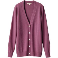 Cashmere V Neck Cardigan (1.845 ARS) ❤ liked on Polyvore featuring tops, cardigans, sweaters, outerwear, women, uniqlo cardigan, v neck cardigan, cardigan top, purple v neck cardigan and purple cardigan