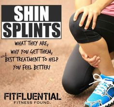 What are shin splints? What is best when it comes to how to treat shin splint pain? Get free exercises for shin splints here on FitFluential! Shin Splint Exercises, Shin Stretches, Foot Exercises, Workout Exercises, Body Workouts, K Tape, Running Injuries, Thing 1, Half Marathon Training