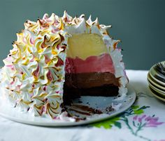 Neopolitan baked Alaska: three really is the magic number when it comes to ice cream