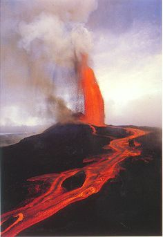 Hawaii Volcanoes National Park has two of the most active volcanoes in the world, Mauna Loa and Kilauea.