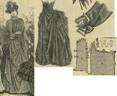 Tygodnik Mód 1887.: Summer gown with draped overdress from striped zephyr.