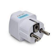 Factory Price Super Quality Convenient 250V AC Power Travel Safe AU US UK To EU Europe Plug Adapter Converter With Track Number