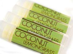Coconut Lemongrass Lip Balm  One Tube  by SakuraBathAndBody, $2.95