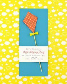DIY Invitación Kite Partido Volar | Oh Happy Day!