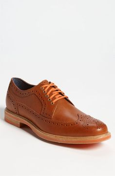 Cole Haan 'Cooper Square' Longwing available at #Nordstrom .  I dig the ORANGE laces.  That's the color of the season.  Look out for the reflective Cooper Square wings!