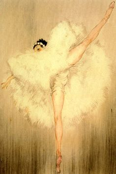 louis icart ballet girl dance