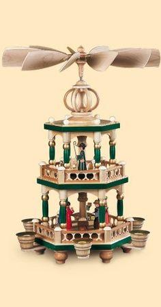 German christmas pyramid Nativity scene, height 40 cm / 16 inch ...