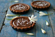 Dark Chocolate and Salted Caramel Tartlets