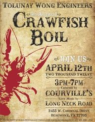 crawfish boil invitations free printable google search crawfish