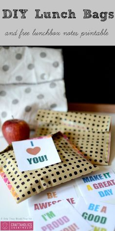 love this lunch idea, its the perfect gift for your kiddos. Make your own lunch bag with this tutorial.