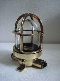 VINTAGE ship's BRASS passage Light / Lamp - SHIP'S 100% ORIGINAL