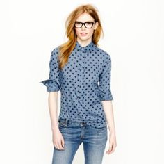 Cute polka dot top. But it'd probably make me long younger than what I already look like. :(