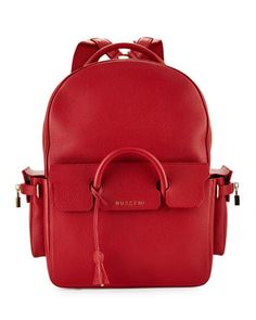 PHD Large Leather Backpack, Red by Buscemi at Neiman Marcus. $2,750