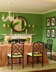 these green wall dining room decoration paint settle from