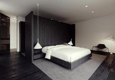 innovative divider to enhance privacy in bedroom. how smart!