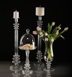 Gabriela Seres- Classic-modern home decor and event handmade glassware Fruit Stands, Cake Stands, Candleholders, Candelabra, Vases, Wedding Decorations, Events, Handmade, Design