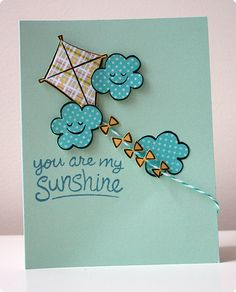 Lawnscaping Challenge #62 - Paper Piecing LAWN FAWN STAMP SET