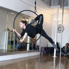Aerial Hoop ~ Beautiful inversion and inside out combo Lyra Aerial, Aerial Hammock, Aerial Acrobatics, Aerial Dance, Aerial Hoop, Aerial Arts, Aerial Silks, Aerial Gymnastics, Gymnastics Room