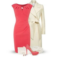 A fashion look from November 2014 featuring Adrianna Papell dresses, Reiss coats and Jimmy Choo pumps. Browse and shop related looks.