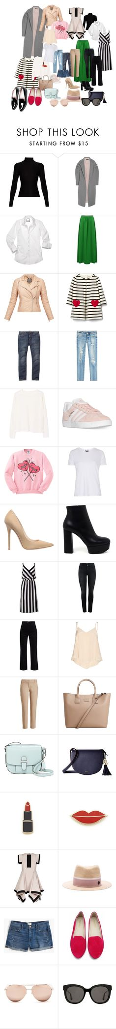"""""""my spring 2017"""" by krasota-room on Polyvore featuring Acne Studios, Mother of Pearl, MuuBaa, Gap, True Religion, MANGO, adidas, Topshop, Jimmy Choo and Casadei"""