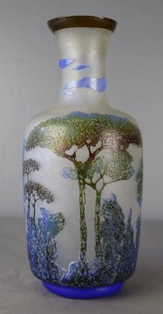Cameo Art Glass Vase, Galle Style