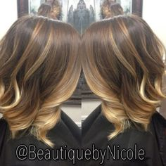 Short Hair Balayage, Balayage Highlights Short Hair, Scanning Caramel, Hair Colors, Ombre Hair Color, Shadow Sweep, Long Bobs, Balayage Longbob, ...