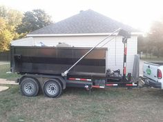 Renting a roll off trash container in the houston area $250.00  Clean your garage or storage area and get rid of the trash in our dumpster  No matter if it's a full construction job or a simple garage clean out our dumpsters are the perfect size.  Our containers are brought out to your location in most cases the same day.  Once the dumpster arrives our driver will position the container to you specifications; if you want the dumpster near the garage you got it!