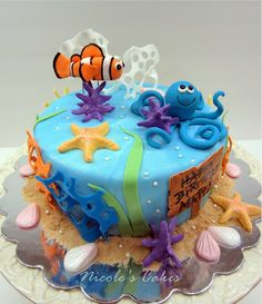 Under The Sea Birthday Cake by Confections, Cakes & Creations!
