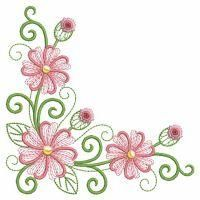 Pillow Embroidery, Custom Embroidery, Embroidery Applique, Embroidery Stitches, Flower Embroidery Designs, Free Machine Embroidery Designs, Glass Painting Designs, Alcohol Ink Crafts, Flower Template