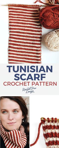 Tunisian Scarf Crochet Pattern - Learn how to Tunisian crochet today!