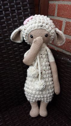 LUPO the lamb made by Verena M. G. G. / crochet pattern by lalylala